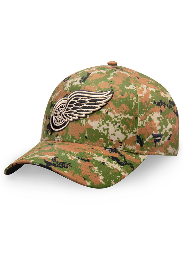 Detroit Red Wings Auth Pro Military Appreciation Alpha Adj Adjustable Hat - Green - Image 1