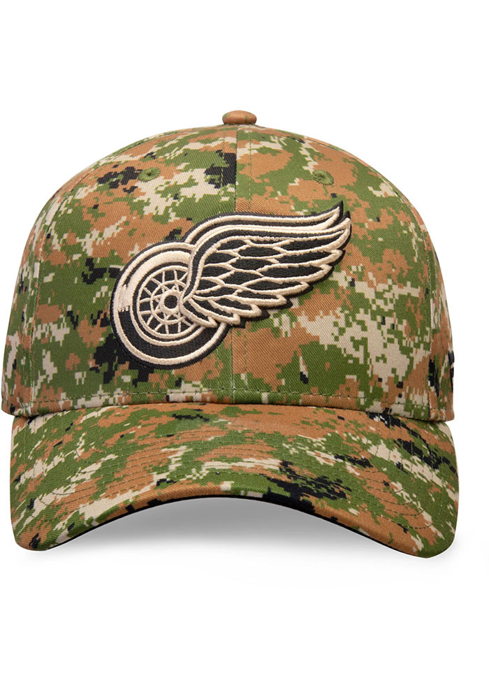Detroit Red Wings Auth Pro Military Appreciation Alpha Adj Adjustable Hat - Green - Image 2