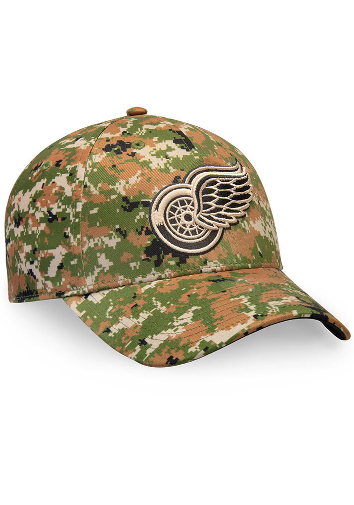 Detroit Red Wings Auth Pro Military Appreciation Alpha Adj Adjustable Hat - Green - Image 3