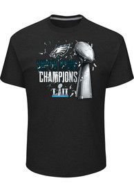 separation shoes 2cc71 3deca Majestic Philadelphia Eagles Black SB LII Lombardi Tee