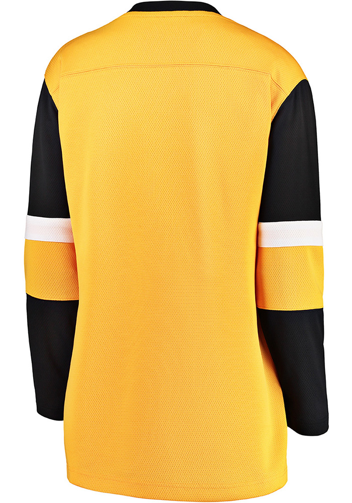 Pittsburgh Penguins Womens Gold Breakaway Alternate Hockey Jersey - Image 2