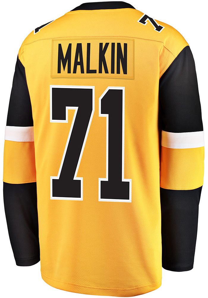 factory price 8d0d8 6c671 Evgeni Malkin Pittsburgh Penguins Mens Gold Breakaway Alternate Hockey  Jersey