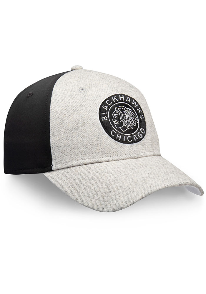 Chicago Blackhawks Mens Grey Winter Classic Speed Flex Hat - Image 1