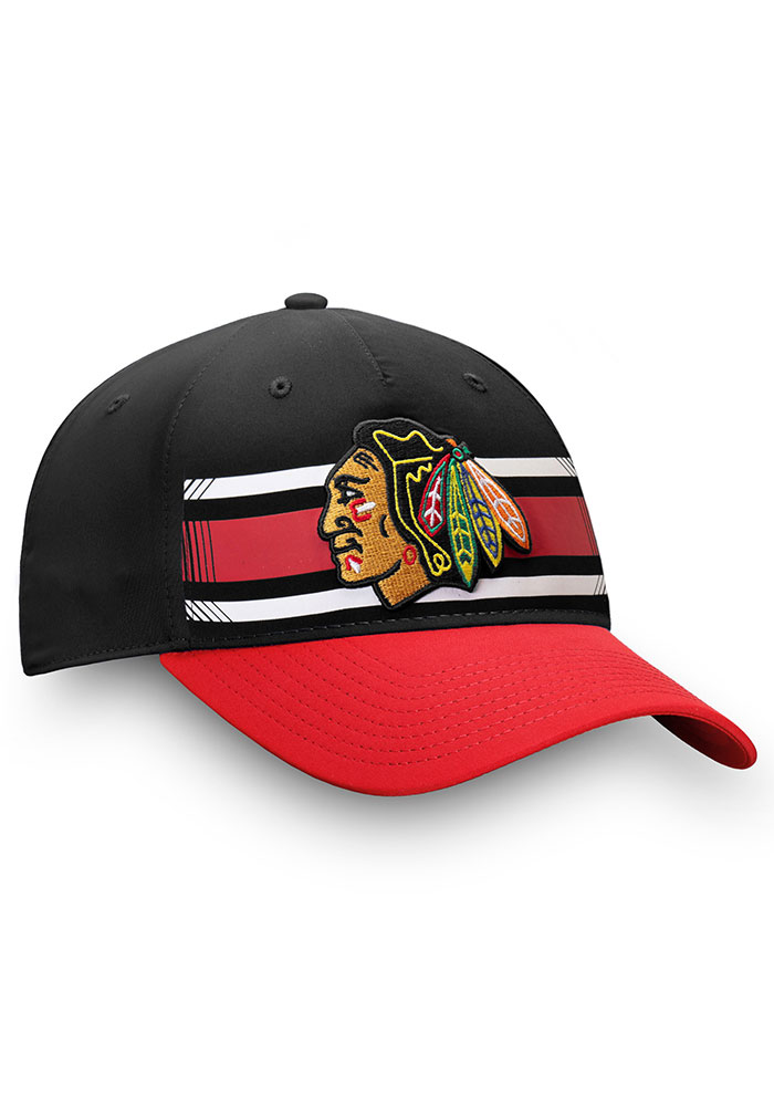 Chicago Blackhawks Iconic Alpha Adjustable Hat - Black - Image 3