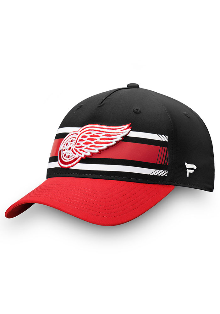 Detroit Red Wings Iconic Alpha Adjustable Hat - Black