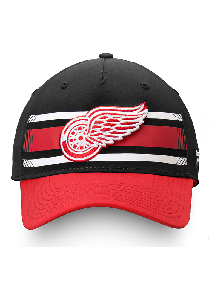 Detroit Red Wings Iconic Alpha Adjustable Hat - Black - Image 2