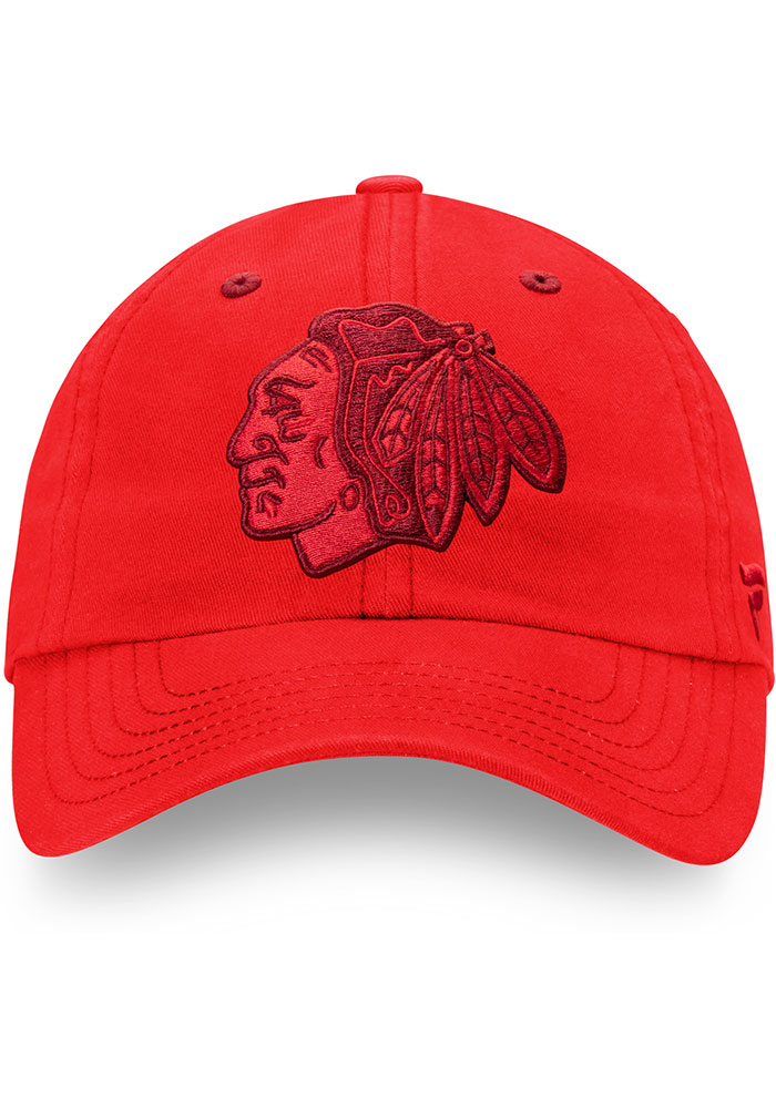 Chicago Blackhawks Mens Red Color Hue Fundamental Adjustable Hat - Image 2