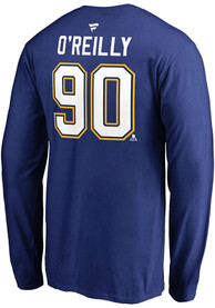 Ryan O'Reilly St Louis Blues Name Number Long Sleeve T-Shirt - Blue