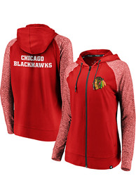 Chicago Blackhawks Womens M2M Full Zip Jacket - Red