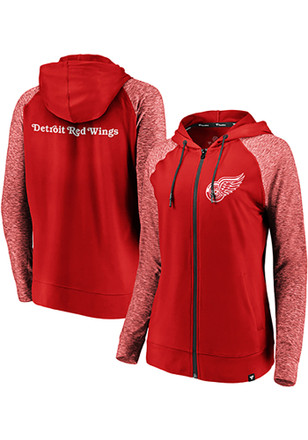 Detroit Red Wings Womens Red M2M Full Zip Jacket 41c4316a68
