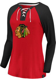 Chicago Blackhawks Womens Iconic Break Out Play T-Shirt - Red