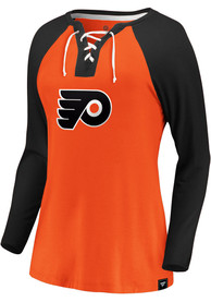 finest selection 948be 15841 Philadelphia Flyers Womens Iconic Break Out Play Orange LS Tee