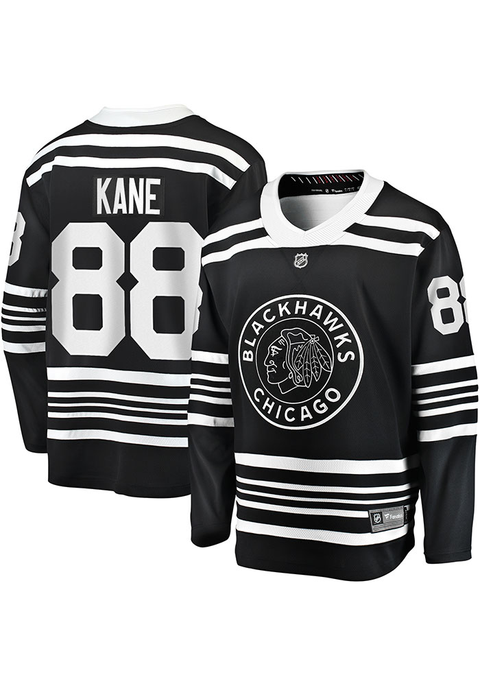 Patrick Kane Chicago Blackhawks Mens Black 2019 Alternate Hockey Jersey - Image 3