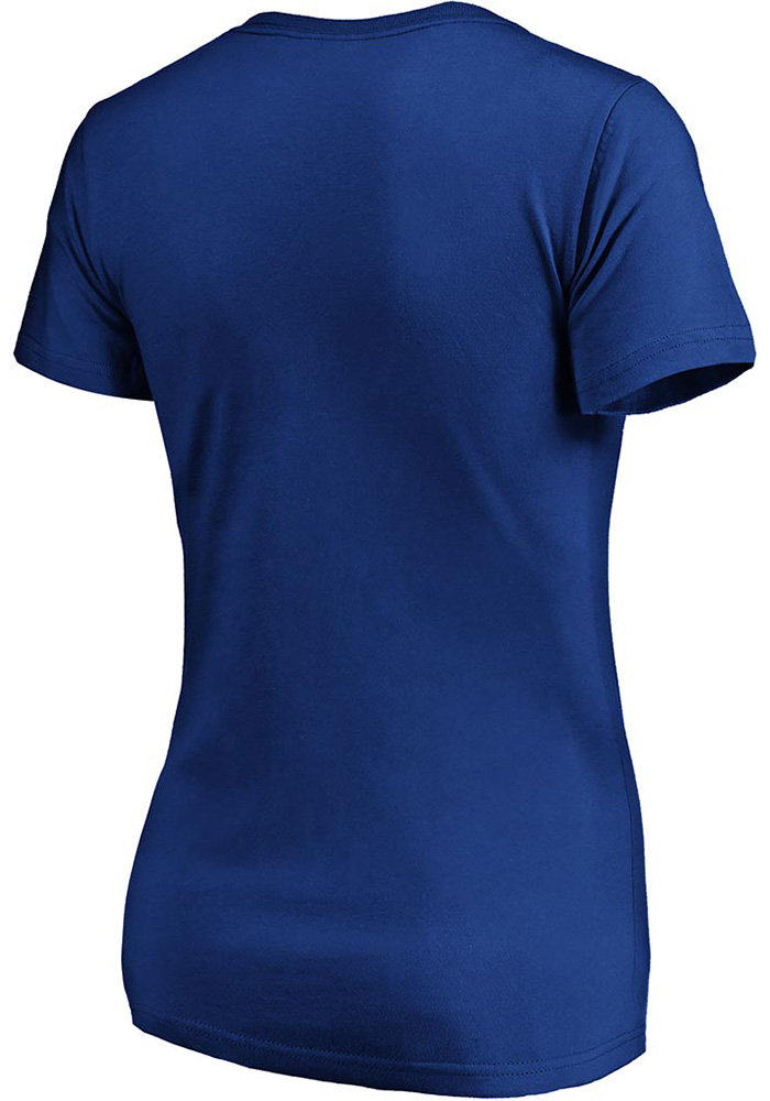 St Louis Blues Womens Blue 2019 Stanley Cup Champions Short Sleeve T-Shirt - Image 2