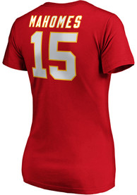 online store 6ea93 e0265 Patrick Mahomes Kansas City Chiefs Womens Red Authentic Stack Player Tee