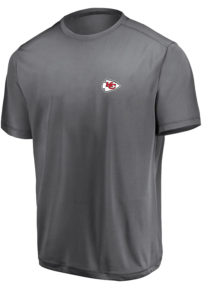 Kansas City Chiefs Grey Micro Logo Short Sleeve T Shirt - Image 1