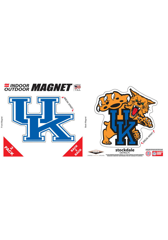 Kentucky Wildcats 6x6 2pk Car Accessory Car Magnet - Image 1
