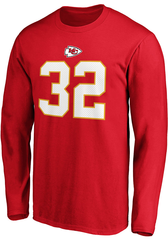 Tyrann Mathieu Kansas City Chiefs Red Authentic Stack Long Sleeve Player T Shirt - Image 2