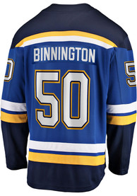 Jordan Binnington St Louis Blues 2019 Home Hockey Jersey - Blue