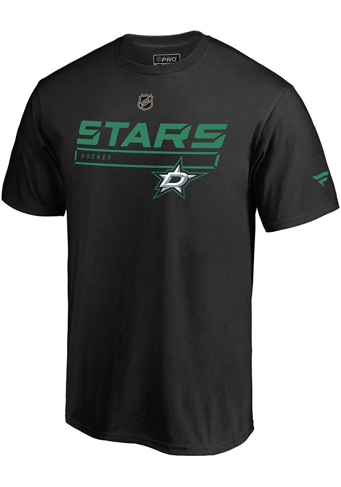 Dallas Stars Black Pro Prime Short Sleeve T Shirt - Image 1