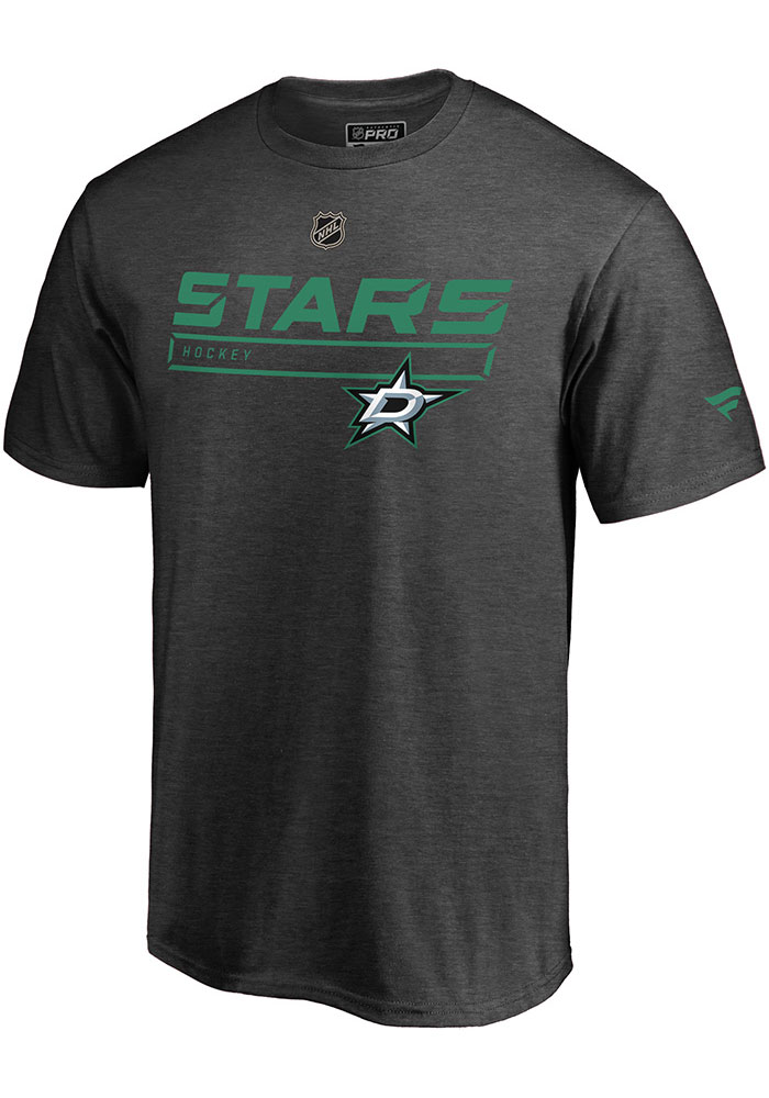Dallas Stars Grey Pro Prime Short Sleeve T Shirt - Image 1