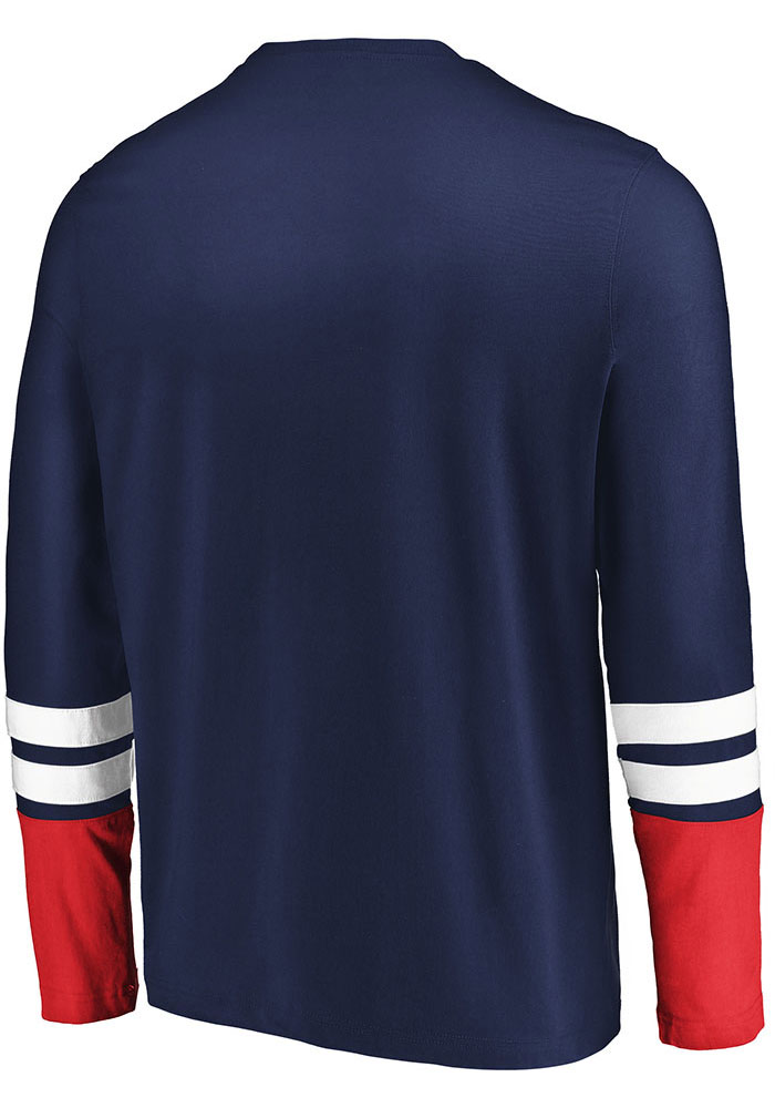 Columbus Blue Jackets Navy Blue 5 Minute Major Long Sleeve Fashion T Shirt - Image 2