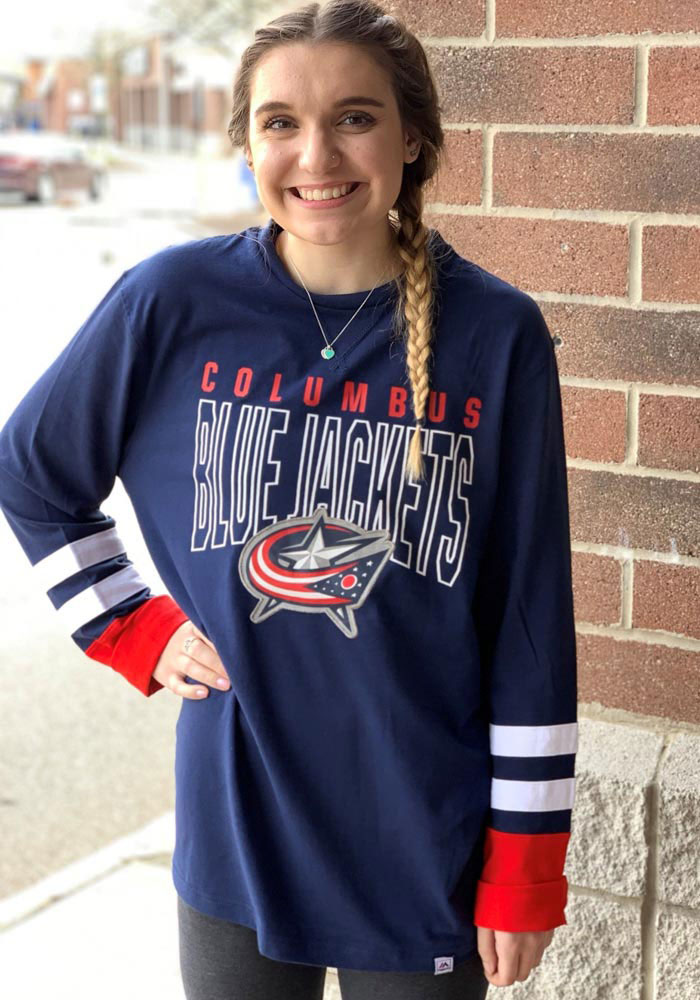 Columbus Blue Jackets Navy Blue 5 Minute Major Long Sleeve Fashion T Shirt - Image 3