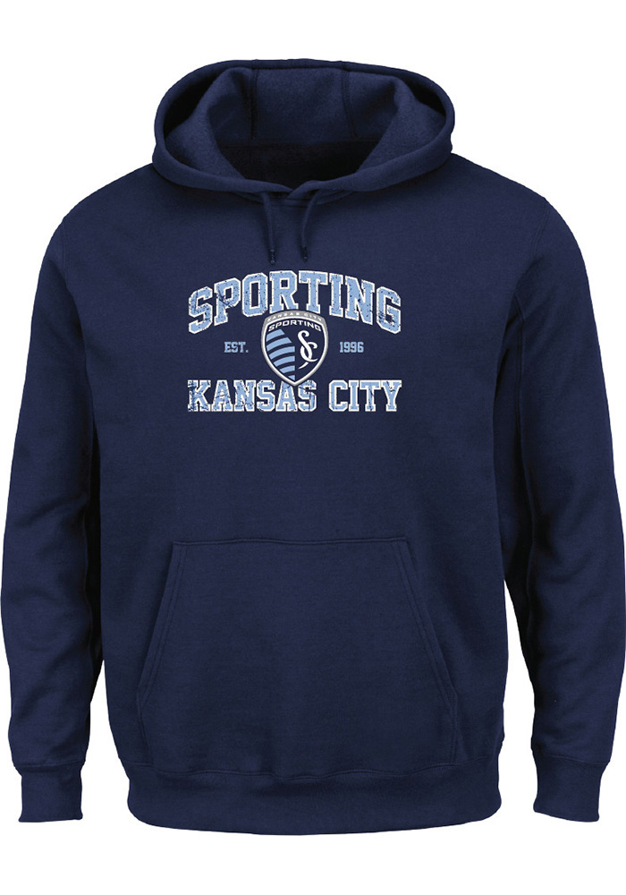 Sporting Kansas City Mens Navy Blue Achievment Long Sleeve Hoodie - Image 1