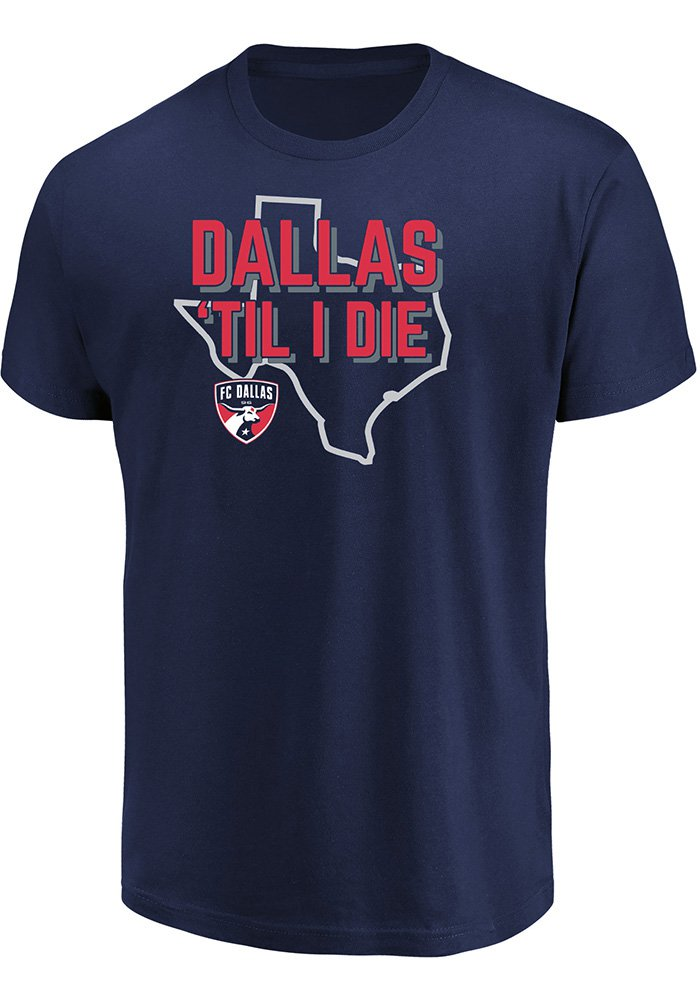 9a540f14c FC Dallas Navy Blue Winning Capacity Tee