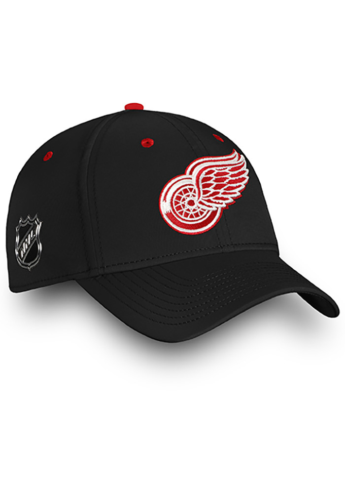 Detroit Red Wings Mens Black Authentic Pro Rinkside Speed Flex Hat - Image 3