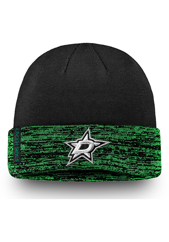Dallas Stars Green Authentic Pro Rinkside Cuffed Mens Knit Hat - Image 1