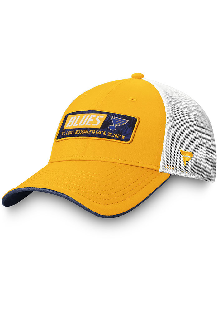 St Louis Blues Iconic Trucker Adjustable Hat - Yellow
