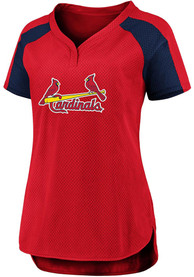 St Louis Cardinals Womens Iconic League Diva Fashion Baseball - Red