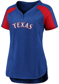 Texas Rangers Womens Iconic League Diva Fashion Baseball - Blue