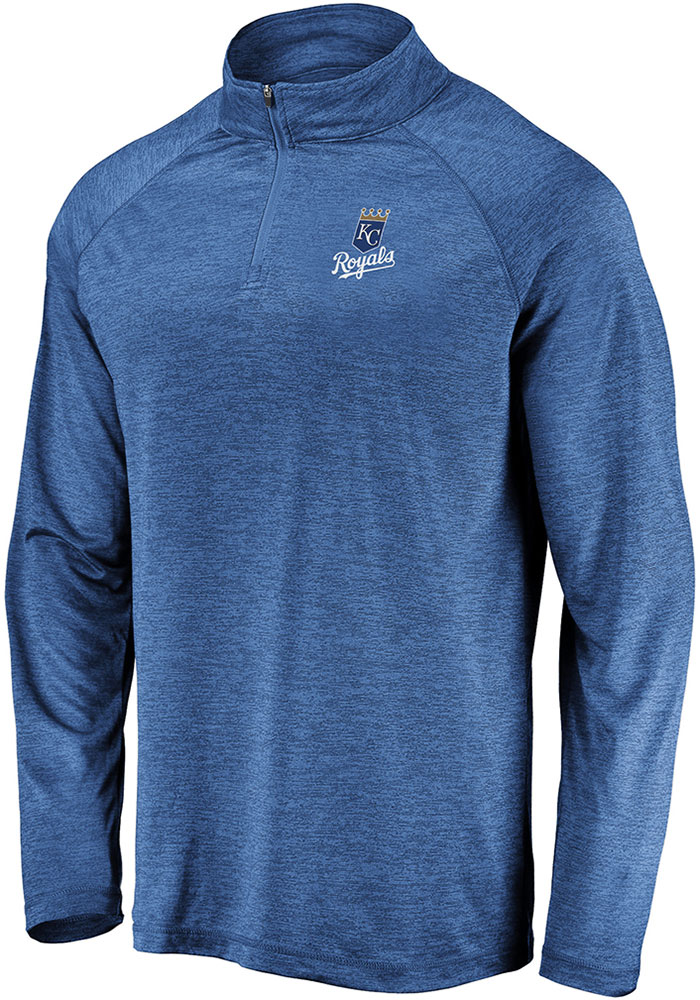 Kansas City Royals Blue Iconic Striated 1/4 Zip Pullover