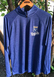 Kansas City Royals Iconic Striated 1/4 Zip Pullover - Blue