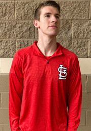 St Louis Cardinals Iconic Striated 1/4 Zip Pullover - Red