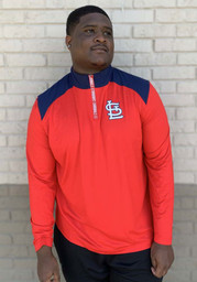 St Louis Cardinals Iconic Clutch 1/4 Zip Pullover - Red