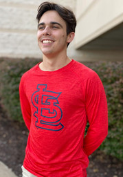St Louis Cardinals Iconic Striated T-Shirt - Red