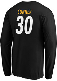 James Conner Pittsburgh Steelers Authentic Stack Long Sleeve T-Shirt - Black