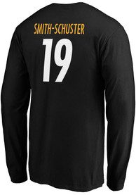 JuJu Smith-Schuster Pittsburgh Steelers Authentic Stack Long Sleeve T-Shirt - Black