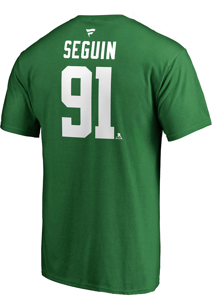 Tyler Seguin Dallas Stars Green Authentic Stack Short Sleeve Player T Shirt - Image 1