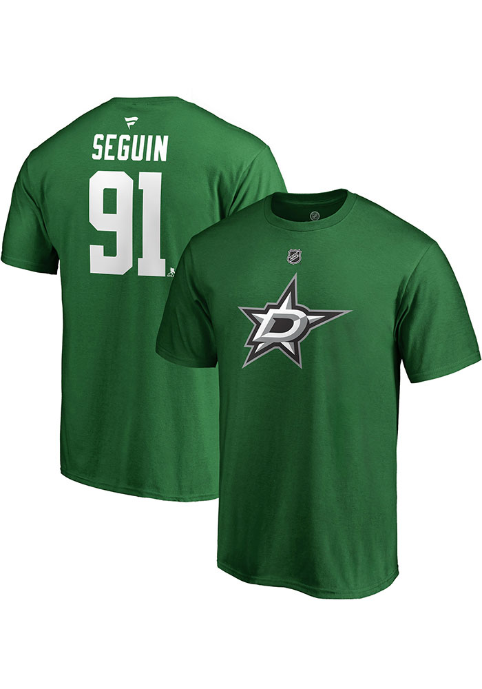 Tyler Seguin Dallas Stars Green Authentic Stack Short Sleeve Player T Shirt - Image 3