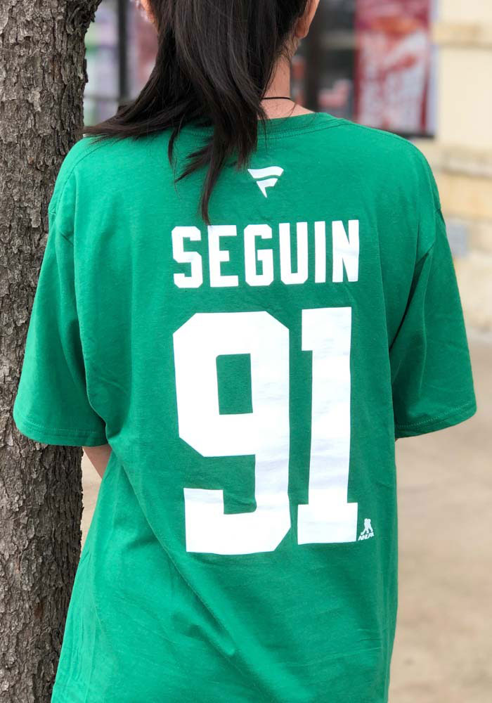 Tyler Seguin Dallas Stars Green Authentic Stack Short Sleeve Player T Shirt - Image 4