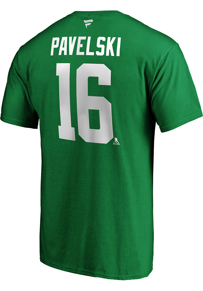 Dallas Stars Green Authentic Stack Short Sleeve Player T Shirt - Image 1