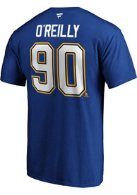 Ryan O'Reilly St Louis Blues Authentic Stack T-Shirt - Blue