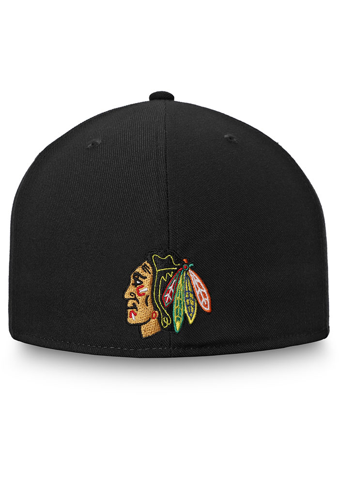 Chicago Blackhawks Mens Black Hometown Fitted Hat - Image 4