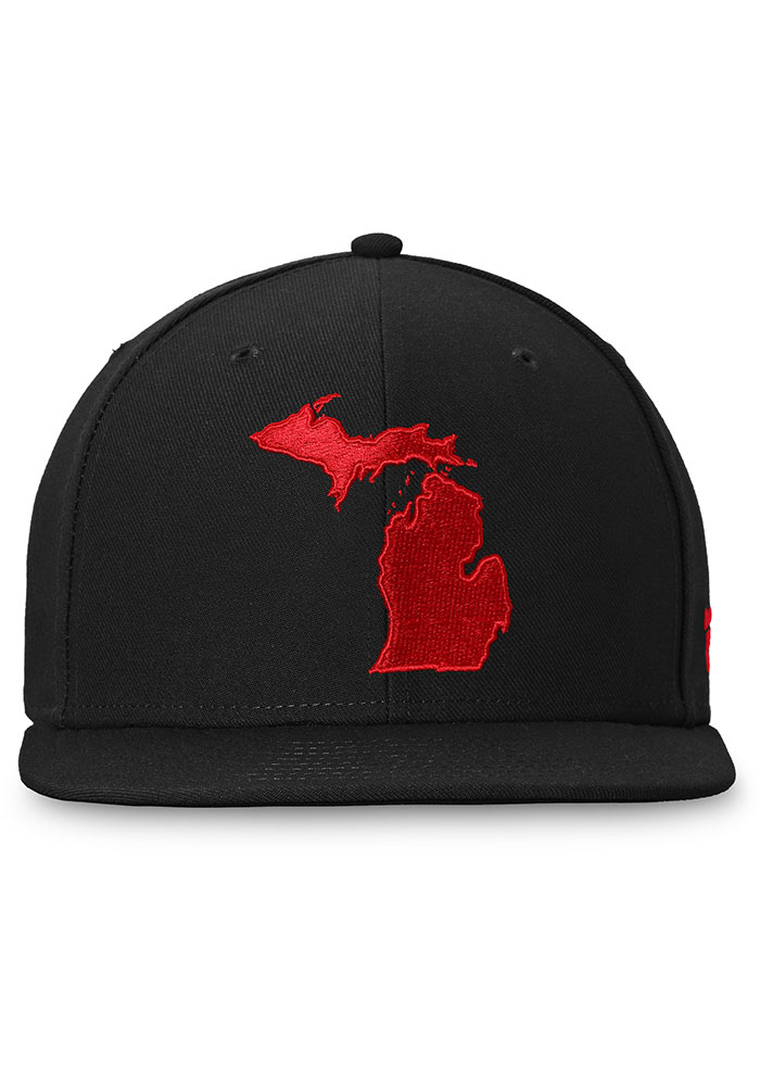 Detroit Red Wings Mens Black Hometown Fitted Hat - Image 2