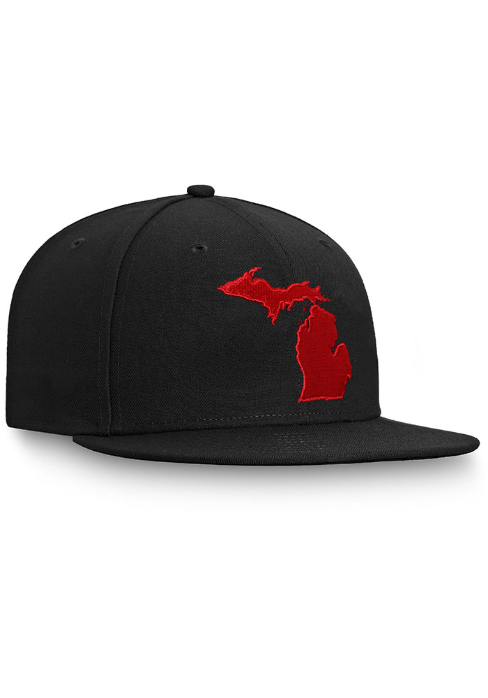 Detroit Red Wings Mens Black Hometown Fitted Hat - Image 3