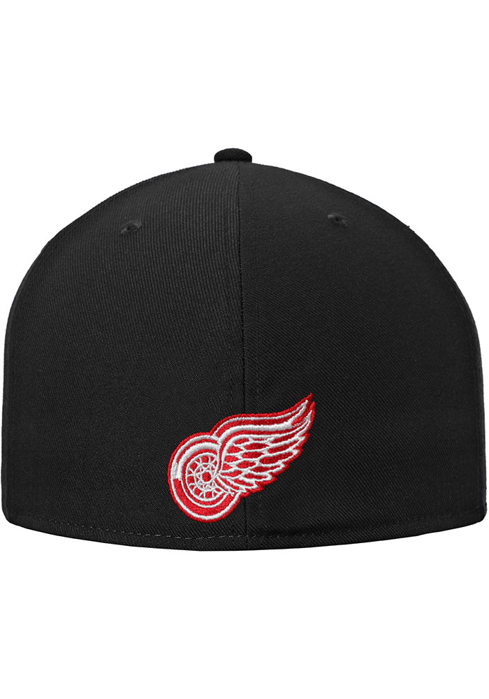 Detroit Red Wings Mens Black Hometown Fitted Hat - Image 4